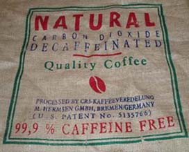 Decaffeinated Green Coffee Bag